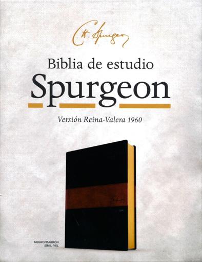 Imagen de Biblia de Estudio Spurgeon RVR 1960 (negro marron simil piel duo tone)