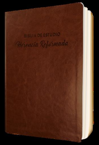 Imagen de Biblia de Estudio Herencia Reformada simil piel (color cafe)