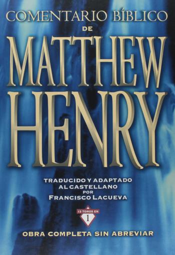 Imagen de Comentario Biblico de Matthew Henry