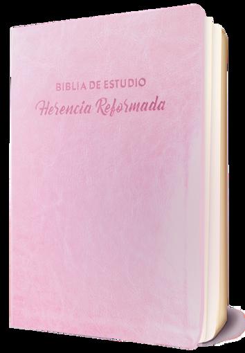 Imagen de Biblia de Estudio Herencia Reformada simil piel (color rosado)