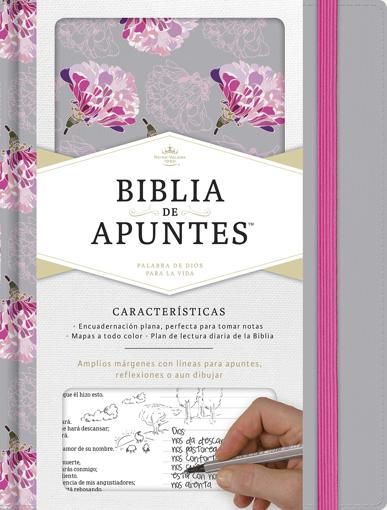 Imagen de Biblia de Apuntes RVR1960 (gris y floreado tela impresa)