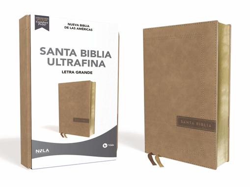 Imagen de Santa Biblia Ultrafina NBLA (beige, letra grande)