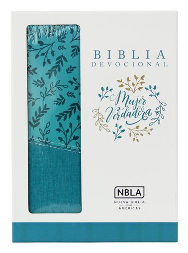Imagen de Biblia Devocional Mujer Verdadera NBLA Duo-tono Aqua