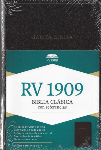 Imagen de Biblia Clasica RV 1909 con referencias (negro, tapa dura)