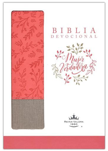 Imagen de Biblia Devocional Mujer Verdadera RVR60 Duo-tono Coral