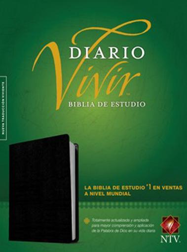 Imagen de Biblia de estudio del diario vivir NTV (Piel fabricada, Negro)