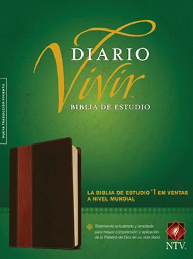 Imagen de Biblia de estudio del diario vivir NTV (Semipiel, Cafe - Cafe claro)