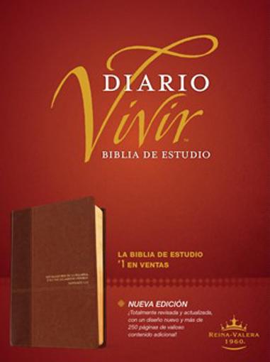 Imagen de Biblia de estudio del diario vivir RVR60 (Semipiel, Cafe - Cafe claro)