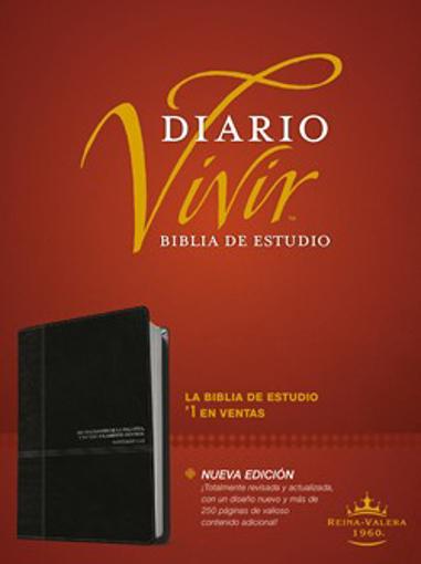 Imagen de Biblia de estudio del diario vivir RVR60 (Semipiel, Negro - Onice)