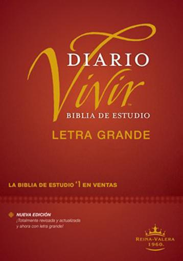Imagen de Biblia de estudio del diario vivir RVR60, letra grande (tapa dura)