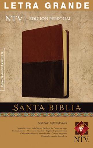 Imagen de Santa Biblia NTV, Edicion personal, letra grande (Semipiel, Cafe - Cafe claro)
