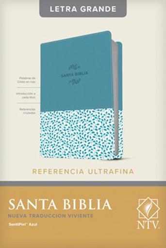 Imagen de Santa Biblia NTV, Edicion de referencia ultrafina, letra grande (Semipiel, Azul)