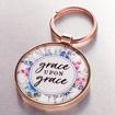 Imagen de Grace Upon Grace - John 1:16 Keyring in Tin