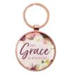 Imagen de His Grace is Enough Keyring in a Tin in Pink Plum - 2 Corinthians 12:9