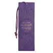 Imagen de Strength and Dignity Purple Sunflower Faux Leather Bookmark - Proverbs 31:25