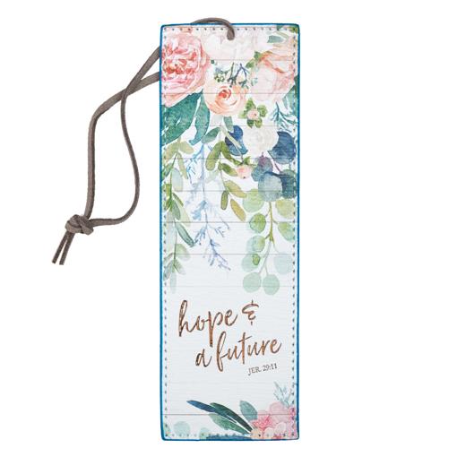 Imagen de Hope and a Future Faux Leather Bookmark - Jeremiah 29:11