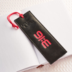"Imagen de Black ""Eternal Life"" Faux Leather Pagemarker / Bookmark - John 3:16"
