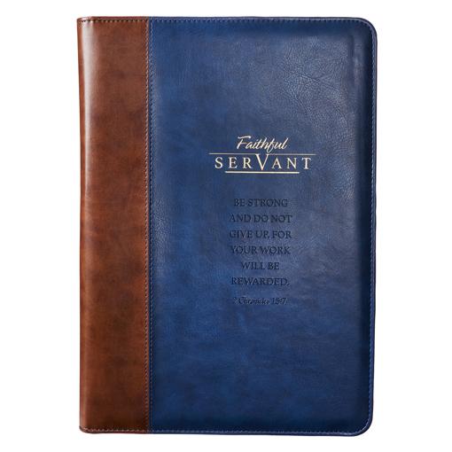 Imagen de Faithful Servant Legal Size Zippered Portfolio - 2 Chronicles 15:7