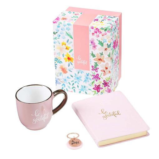 Imagen de Be Grateful Journal, Mug and Keyring Boxed Gift Set for Women