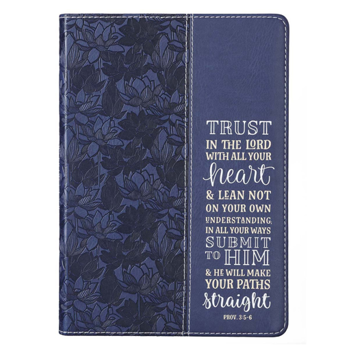 Imagen de Trust in the Lord Navy Faux Leather Classic Journal - Proverbs 3:5-5